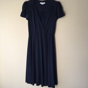 Dresses & Skirts - Navy faux wrap dress
